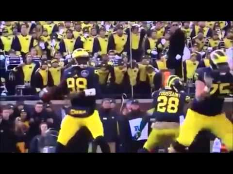 The University of Michigan Wolverines Football 2014 Team 135 Hype Up