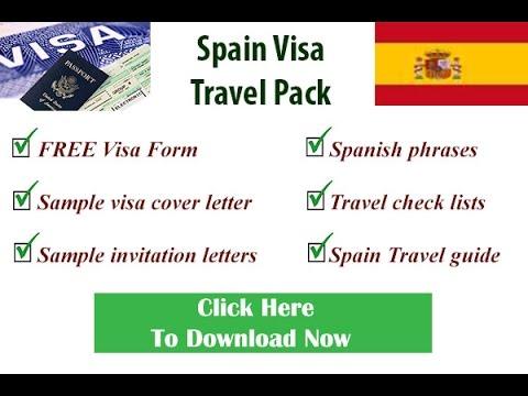 Spanish Visa Form, Schengen Visa Form, Visa Form for Spain