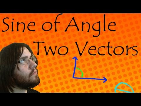 How to Find Sine of Angle Between Two Vectors