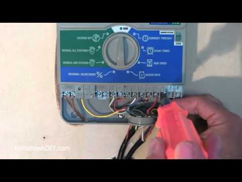 How to Install (Wire) a Sprinkler Controller