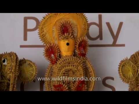 Paddy craft items being sold at Tribal Museum in Araku Valley