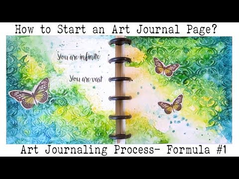Art Journal for Beginners | How to  Art Journal? |  Starting a blank Page | Formula #1
