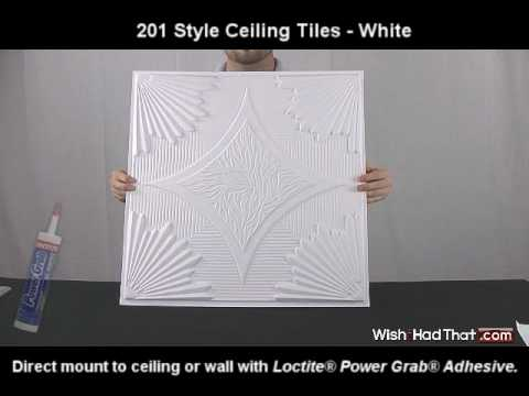 201 Style Ceiling Tiles - White