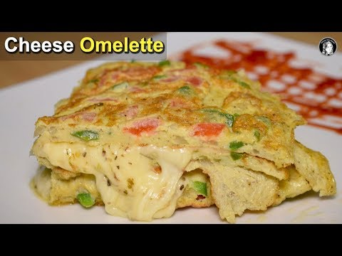 Yummy Cheese Omelette - Easy Egg Breakfast Recipe - Kitchen With Amna