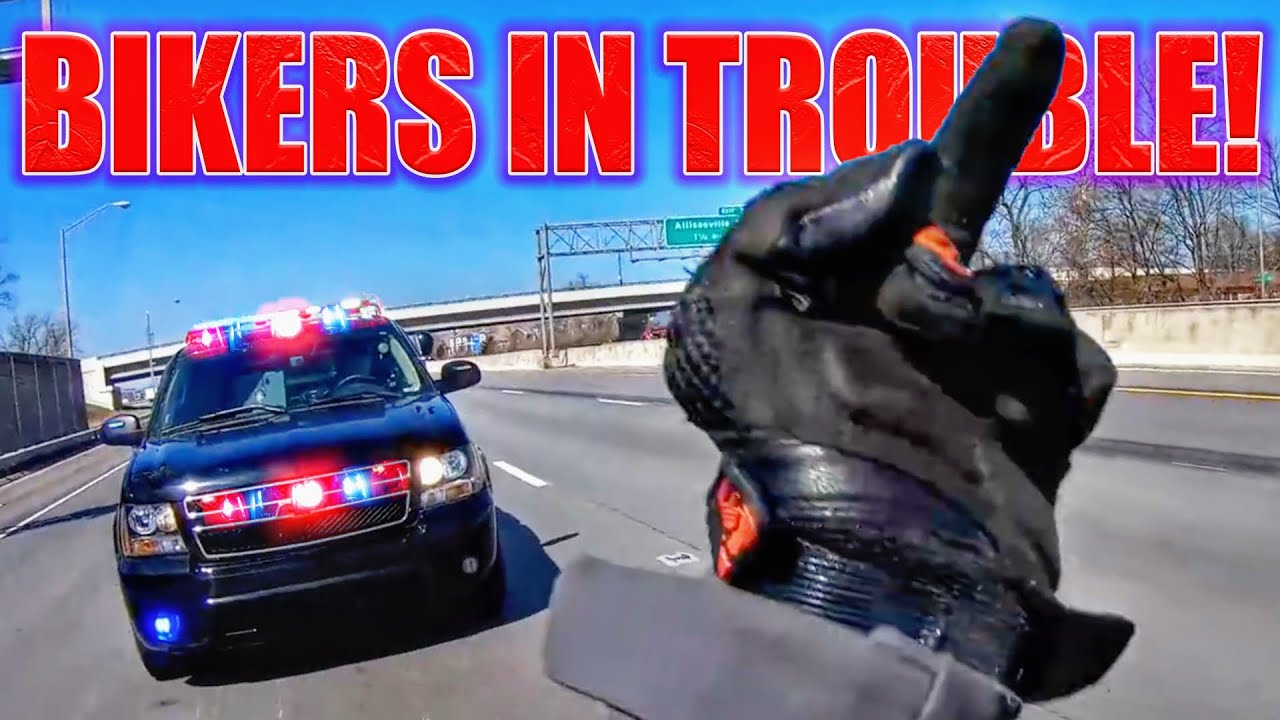 COOL & ANGRY COPS VS BIKERS 2020 | POLICE + BIKERS = TROUBLE!!!