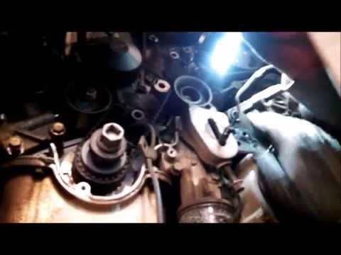 Timing belt replacement water pump  2005 Kia Sedona 3.5L V6 PART 2 Remove Replace