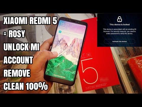 Xiaomi Redmi 5 Rosy Unlock/Remove Mi Account Clean 100% 2018