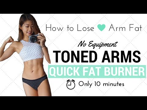 10 min Arm Fat Burning & Toning Workout (No Equipment!) + Healthy Snacks I Eat