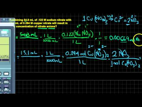 Finding the Concentration of Ions in a Mixed Solution II