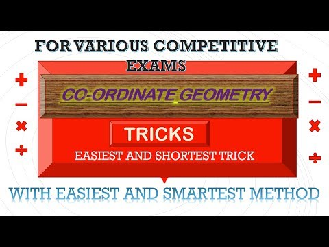 BEST TRICKS IN CO-ORDINATE GEOMETRY|| FOR JEE/NDA/ TGT/PGT-MATHS AND OTHER COMPETITITIONS