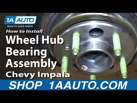 How To Install Replace Bad Rear Wheel Hub Bearing Assembly 2006-12 Chevy Impala
