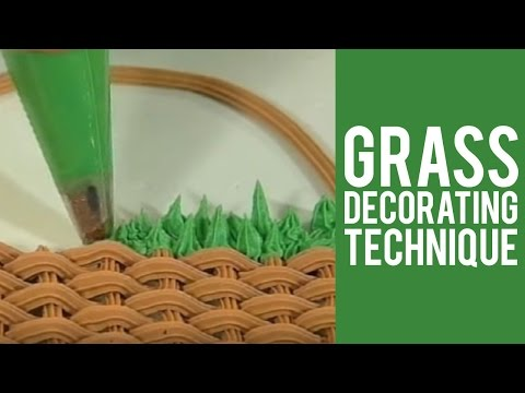 Grass Decorating Technique from Wilton