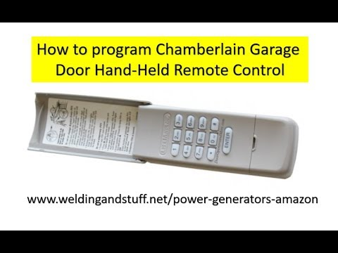 How To Change An Existing Code On The Chamberlain Garage Door Opener Keypad