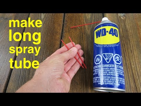 How to make ● Long Spray Tube for your WD40
