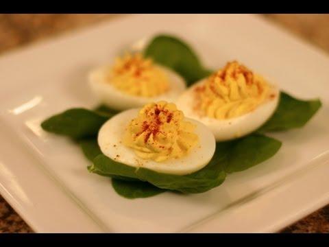 How To Make Homemade Deviled Eggs - Easy Stuffed Eggs Appetizer | Rockin Robin Cooks
