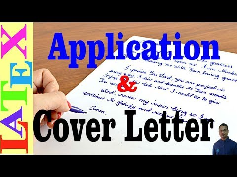 How to Write an Application and Cover Letter in LaTeX (Latex Tutorial, Episode - 26)