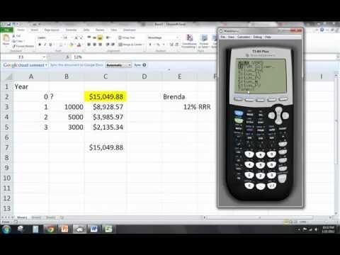 NPV Financial Calculator TI83 and TI84