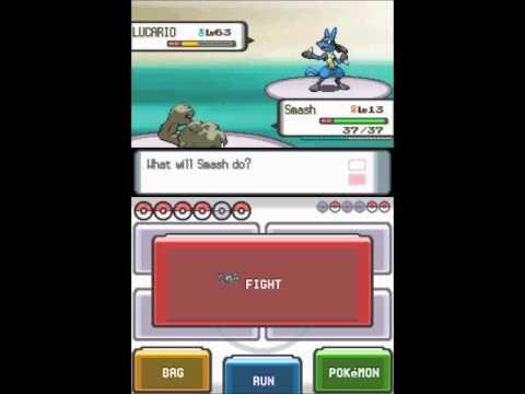 Pokemon Diamond + Pearl Walkthrough - Elite Four -Champion Cynthia (Dragon/Water/Grass/Fighting)