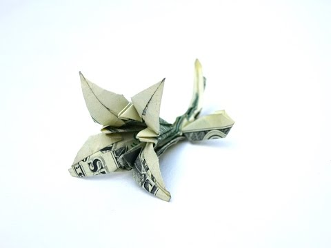 How to make a Lily from a 100 dollar bill