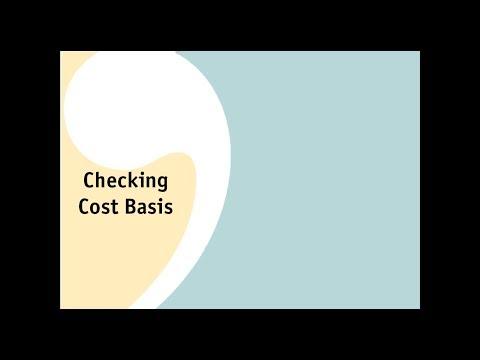 Checking Cost Basis