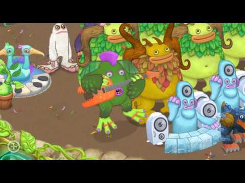 Rare Riff sings in Gold Island - My Singing Monsters