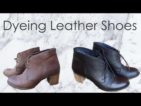 Dyeing Leather Shoes | Sannari