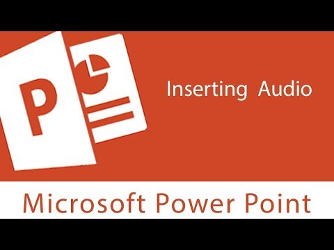 Powerpoint : Inserting Audio | Trim | Add and Remove Bookmark