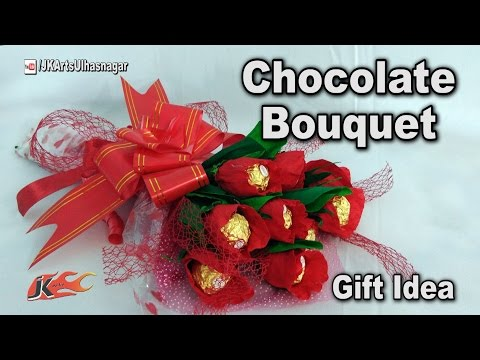Valentine Day Gift Idea | DIY How to make Chocolate Bouquet |  Ferrero Rocher Bouquet | JK Arts 1188