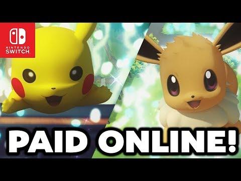 Pokémon Switch NEWS - PAID ONLINE, NO WONDERTRADE, NO GTS in Pokémon Lets GO Pikachu & Lets GO Eevee