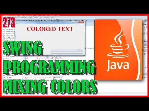 JAVA Swing programming - Using sliders to mix colors of Label