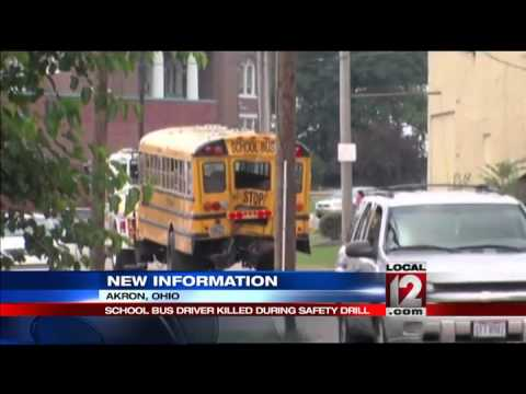 School bus driver killed during safety drill