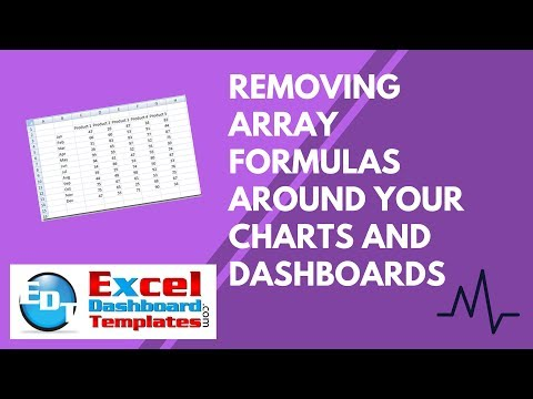 Removing Array Formulas Around Your Excel Charts and Dashboards
