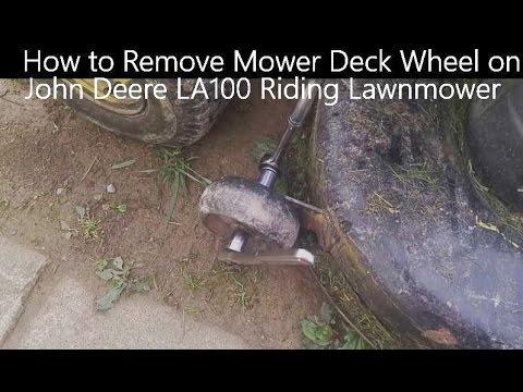 How to Remove Mower Deck Wheel on John Deere LA100 Riding Lawnmower