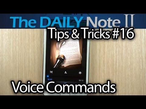 Samsung Galaxy Note 2 Tips & Tricks (Episode 16: Voice Control For Calls, Alarm, Camera, Music)