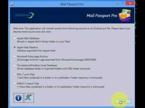 Convert Apple Mail, Thunderbird, Entourage, MBOX, EML, RGE to Outlook PST - How to Demo