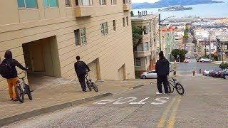 BMX - EXPLORING THE MOST INSANE HILLS IN SAN FRANCISCO