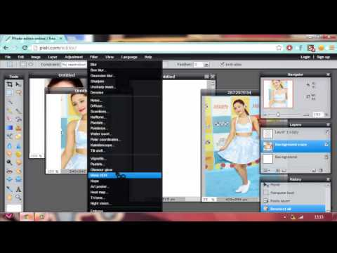 How To Make A Twitter Icon & BG in Pixlr.com