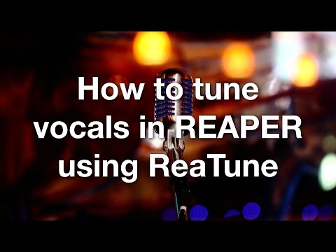How to tune vocals in REAPER using ReaTune