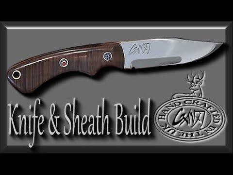 MAKE A DROP POINT HUNTER (Full Tang) Hunting Knife DIY