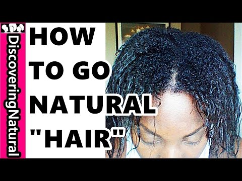 How to Go Natural and Transitioning to Natural Hair  without Cutting your hair ( Big Chop )