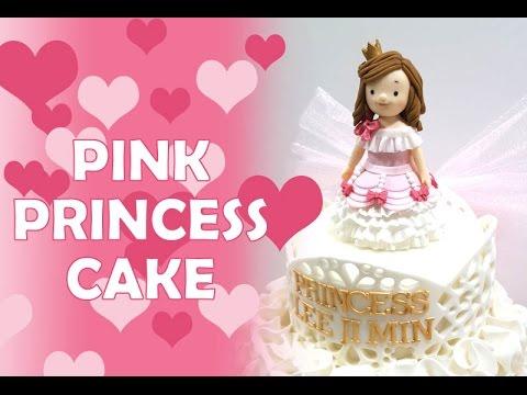 ::sugarcraft:: pink princess cake 핑크 공주케이크 만들기