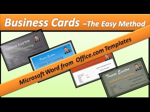 Business Card - Make Business Cards - Microsoft Word 2010