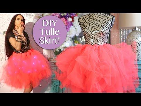 DIY Tulle Skirt No Sew ! Easy DIY Tulle Skirt