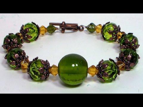 How To: Stunning Green Bracelet in 15 Minutes! Beginner Tutorial!