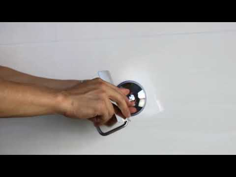 How to install the toilet paper holder with suction cup
