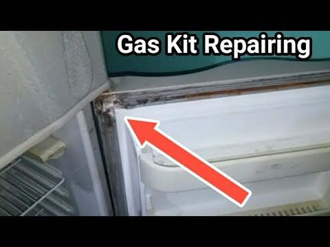 Refrigerator door gas kit repairing alteration in Urdu/Hindi