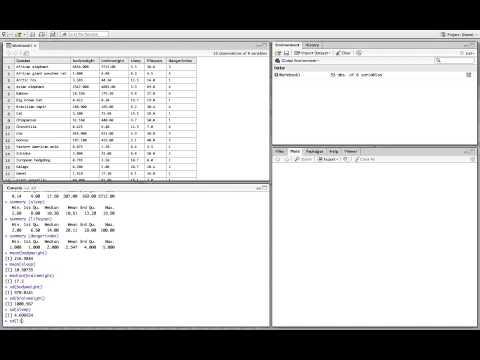 R Studio: Importing & Analyzing Data
