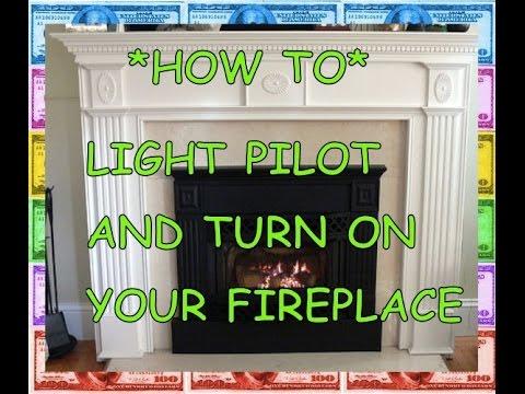 PILOT LIGHT: HOW TO light a fireplace (natural gas propane)
