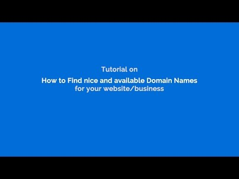 How to find best Domain name for your website online