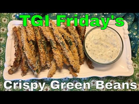 TGI Friday's Cripsy Green Beans⎜Baked⎜Veganized